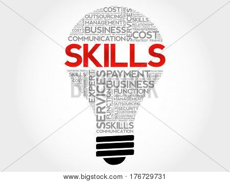 Skills Bulb Word Cloud