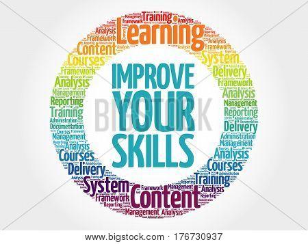 Improve Your Skills Circle Word Cloud