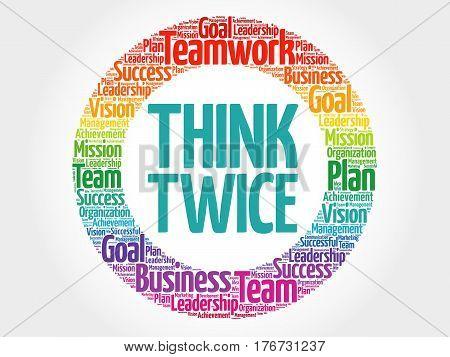 Think Twice Circle Word Cloud