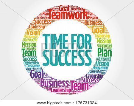 Time For Success Circle Word Cloud