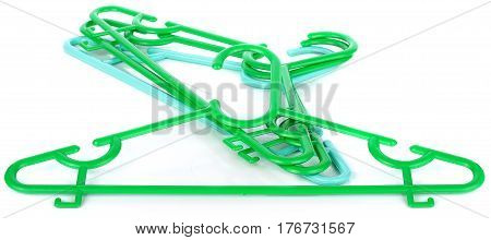 colorful clothes hanger isolated on white plastic, isolated, hangers, clothes, white, coat, background
