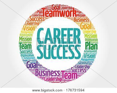 Career Success Circle Word Cloud
