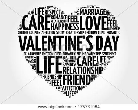 Valentine's Day Word Cloud Collage