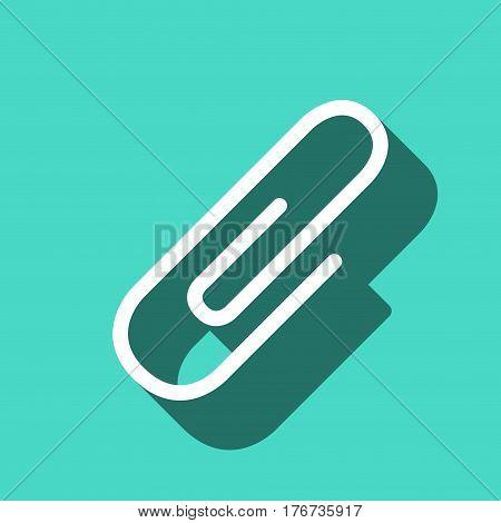 paper clip icon stock vector illustration flat design