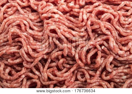 raw and cold minced beef also to use as background