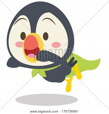 Super toucan character vetcor illustration collection stock
