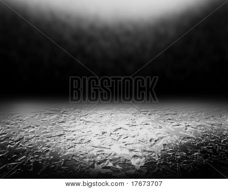 icy grunge black background