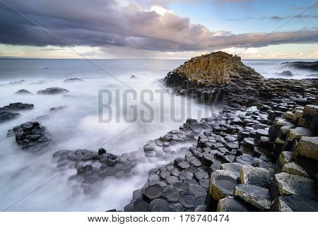 The Giant's Causeway  In The Morning.