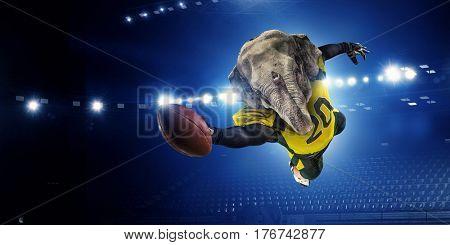 Furious elephants team . Mixed media