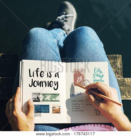 Discover Explore Travel Journey Concept