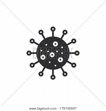Virus icon vector filled flat sign solid pictogram isolated on white. Infection symbol logo illustration