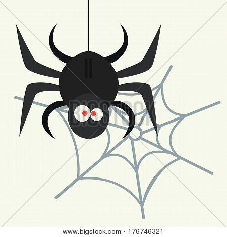 Spider silhouette arachnid fear graphic flat scary animal poisonous design nature phobia insect danger horror tarantula halloween vector icon. Creepy warning symbol poison silhouette.