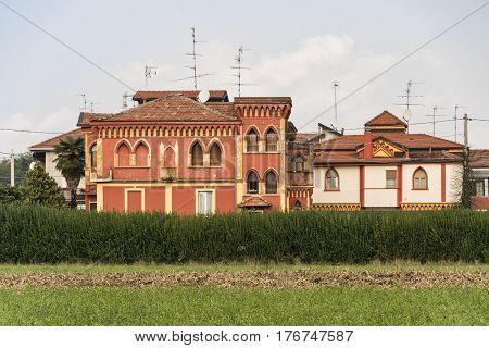 Tradate (Varese Lombardy Italy): old buildings along the via Varesina