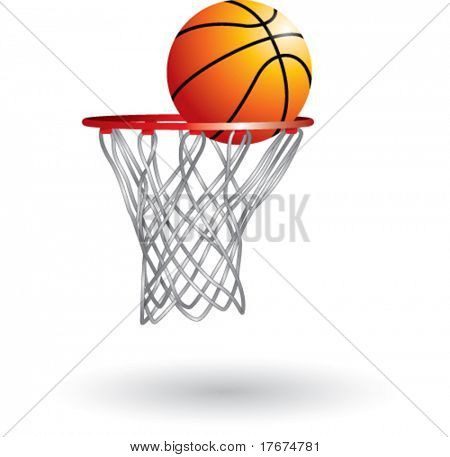 isolated basketball shot
