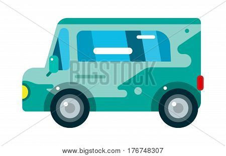 City bus cartoon flat style. Bus icon silhouette. Bus mobile fast city transport fast moving. Vector illustration city bus object isolated