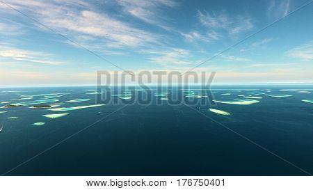 Beautiful tropical Maldives island with white sandy beach and sea