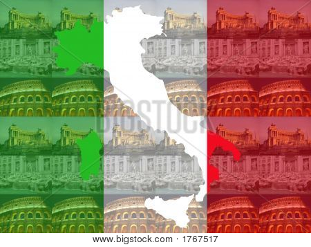 Map Of Italy With Rome Attractions