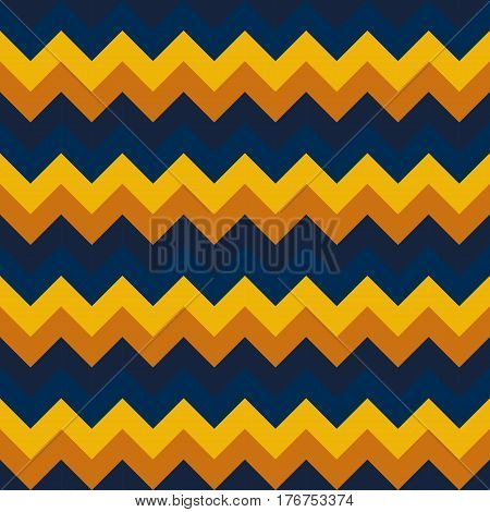 Chevron pattern seamless vector arrows geometric design colorful yellow mustard naval blue dark blue