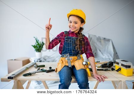 Little Girl In Tool Belt