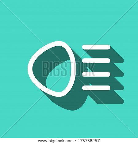 distant beam icon stock vector illustration flat design