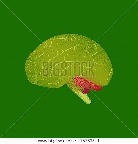 flat shading style icon human brain medical