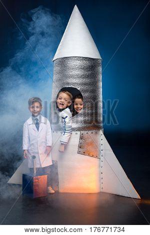 Kids Playing Astronauts