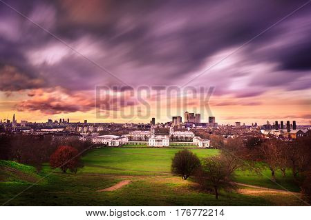 beautiful view of city scape at london in UK