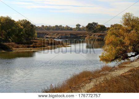Northern California flowing through  Sacramento-San Joaquin River Delta.