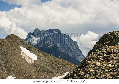 Mountains Landscape High Peaks Scenery Wild Nature Calm Scene.