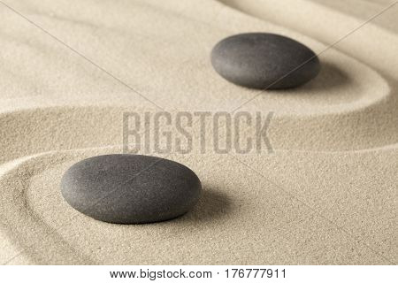 zen meditation stone background, Buddhism stones presenting ying yang for relaxation balance and harmony or spa wellness concept for purity