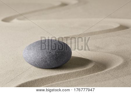 zen budhism meditation stone and sand. Paterns for yoga, relaxation and concentration.