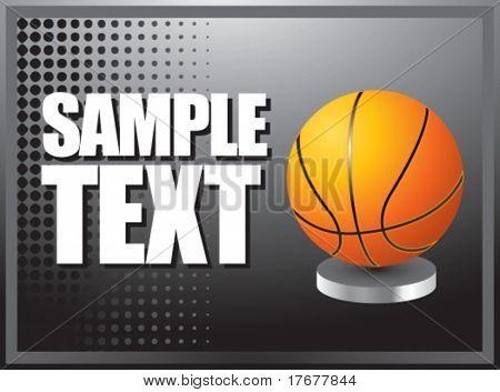 silver horizontal basketball display