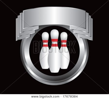silver crest with bowling pins