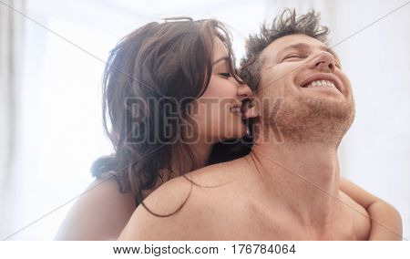 Beautiful Young Couple Enjoying Sensual Foreplay