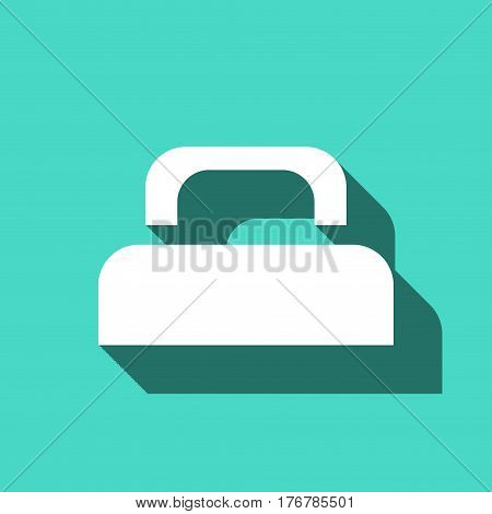bed icon stock vector illustration flat design