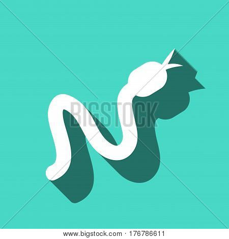 snake icon stock vector illustration flat design