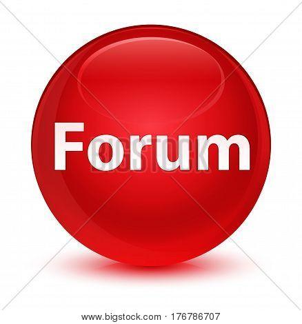 Forum Glassy Red Round Button