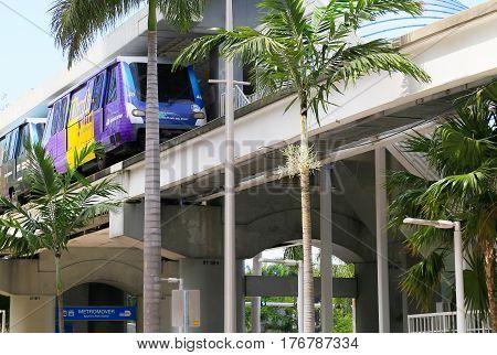 Metromover In Miami
