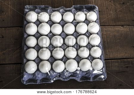 Eggs in the box, 30 lu eggs, white chicken eggs, eggs in different concepts,