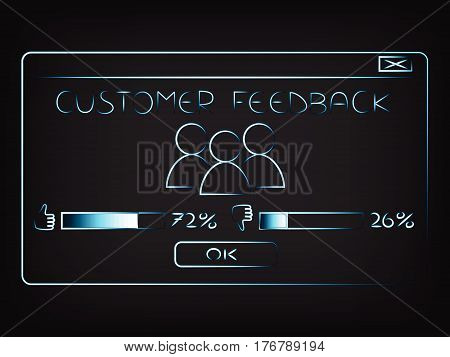 Vector Of Pop-up Window With Customer Feedback