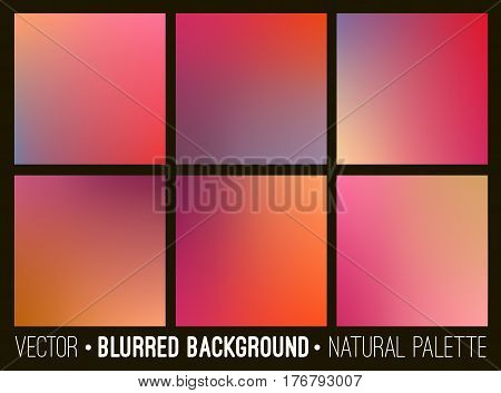 Blurred abstract backgrounds collection. Smooth template design for creative decor web banners and mobile interface.