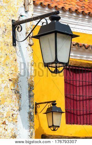 Colonial Street Light Closeup