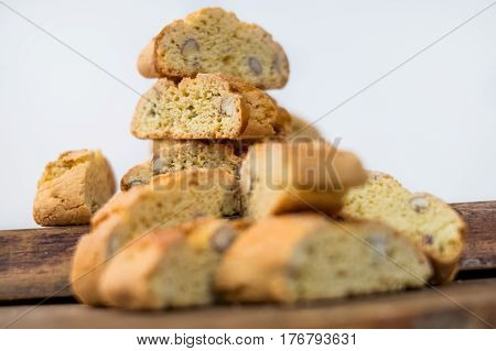 Sweet Biscuits Cantuccini With Almonds