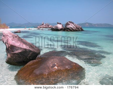 Rocky Beach In Thailand