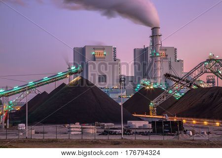 Newly Built Coal Powered  Plant