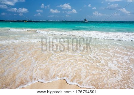 Beach And Idyllic Sea