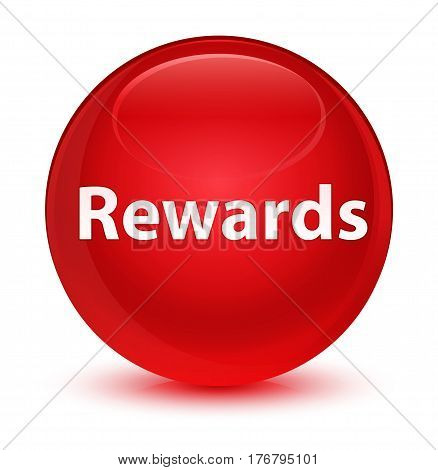 Rewards Glassy Red Round Button
