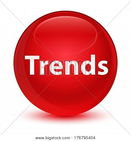 Trends Glassy Red Round Button