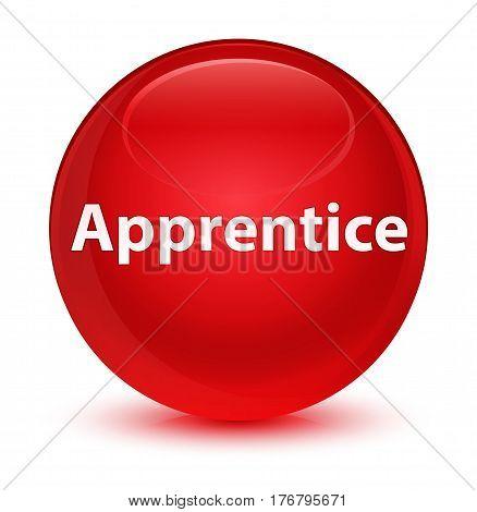 Apprentice Glassy Red Round Button