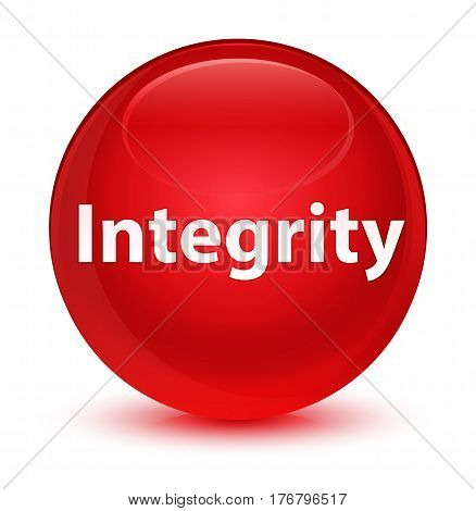 Integrity Glassy Red Round Button